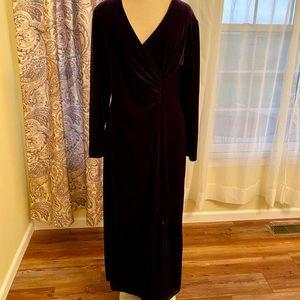 Purple velour gown